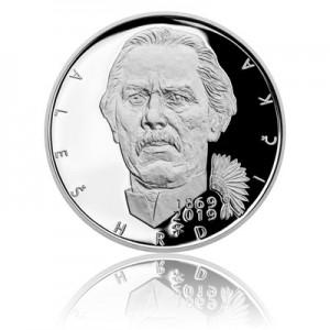 Stříbrná mince Aleš Hrdlička - Proof - emise březen 2019 - orientační cena