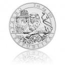 2019 - Stříbrná mince 5 NZD Český lev - 2 Oz - číslováno