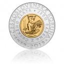 2019 - Pamětní bimetalová mince Zavedení čs. koruny, Standard