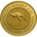 Zlatá investiční mince Australian Kangaroo - Klokan 2 Oz - rok 2003