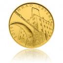 Hrad Veveří - zlatá mince z cyklu Hrady České republiky, běžná kvalita - Standard - emise květen 2019 - orientační cena