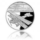 Stříbrná mince První české letadlo Bohemia B-5 - Proof