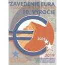 Sada oběžných mincí Slovenské republiky 2019 - 10. výročí zavedení EURA - ProofProof