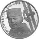 Stříbrná pamětní mince M. R. Štěfánik Proof, 2019