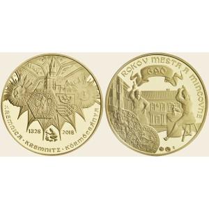 2018 - Zlatá medaile 690. výročí Mincovny Kremnica