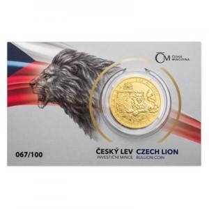 2018 - Zlatá mince 50 NZD Český lev Reverse Proof - 1 Oz - číslováno