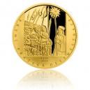 2019 - Zlatá medaile První pražská defenestrace - číslováno - Au 1/2 Oz