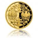 2019 - Zlatá medaile Zahájení vydávání československých platidel - číslováno - Au 1/2 Oz