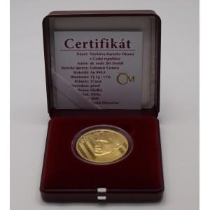 Zlatá medaile Návštěva Baracka Obamy v České republice - 1 Oz