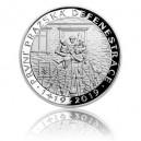 Stříbrná mince První pražská defenestrace - Proof