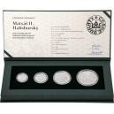 2019 - Sada čtyř stříbrných odražků dukátů Matyáše II. Habsburského