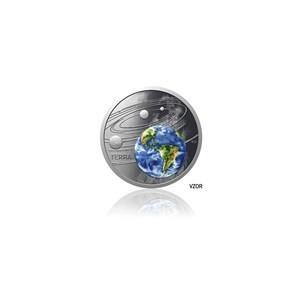 2019 - Stříbrná mince 1 NZD Země