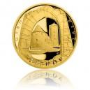 Hrad Švihov - zlatá mince z cyklu Hrady České republiky, špičková kvalita - Proof