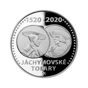 Stříbrná mince Jáchymovské tolary - Proof - emise leden 2020 - orientační cena