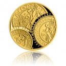 2020 - Zlatá medaile Zahájení ražby jáchymovských tolarů - číslováno - Au 1/2 Oz