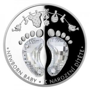 2020 - Stříbrná mince 2 NZD Crystal Coin - K narození dítěte