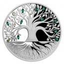 2020 - Stříbrná mince 2 NZD Crystal Coin - Strom života