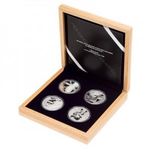 2019 - Sada 4 stříbrných mincí 5 NZD Cesta za svobodou