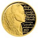 2020 - Zlatá medaile Božena Němcová - číslováno - Au 1/2 Oz