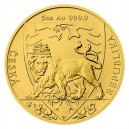 2020 - Zlatá mince 250 NZD Český lev - 5 Oz
