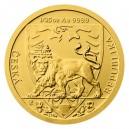 2020 - Zlatá mince 5 NZD Český lev - 1/25 Oz