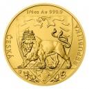 2020 - Zlatá mince 10 NZD Český lev - 1/4 Oz