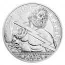 2020 - Stříbrná mince 10 NZD Bohové - Zeus