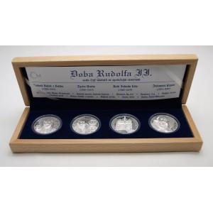 Sada 4 stříbrných medailí Doba Rudolfa II.