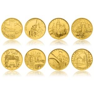 2016-2019 - Sada osmi zlatých mincí Hrady ČR,  Standard