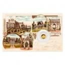 2020 - Zlatá mince 5 NZD Lednice - Zámek - Dobové pohlednice