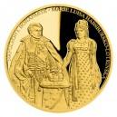 2020 - Zlatá investiční mince 100 NZD Napoleon I. Bonaparte a Marie Louisa Habsbursko-Lotrinská
