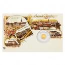 2020 - Zlatá mince 5 NZD Plzeň - Katedrála sv. Bartoloměje - Dobové pohlednice
