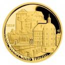 Hrad Buchlov - zlatá mince z cyklu Hrady České republiky, špičková kvalita - Proof - emise říjen 2020 - orientační cena