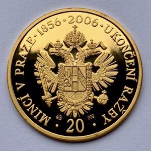 Zlatá medaile Ukončení ražby Pražské mincovny