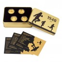 2020 - Sada 4 zlatých mincí 25 NZD Válečný rok 1940 - Proof