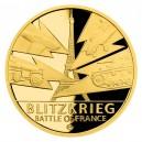 2020 - Zlatá mince 5 NZD Bitva o Francii - Válečný rok 1940