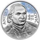 Stříbrná pamětní mince Andrej Sludkovič, Proof, 2020