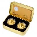 2020 - Sada 2 zlatých mincí 25 NZD Konec II. světové války