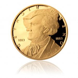 2013 - Zlatá půluncová mince 10 NZD Richard Wagner