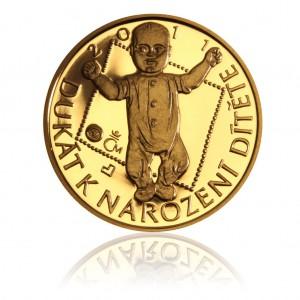 Zlatý Dukát k narození dítěte rok 2011-Au 1/10 Oz