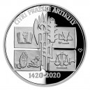 Stříbrná mince Čtyři pražské artikuly, Proof