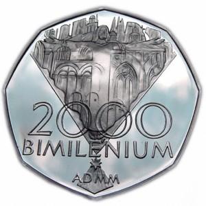 Stříbrná pamětní mince Bimilénium, Proof, 2000
