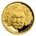 2020 - Zlatá mince 25 NZD Ludwig van Beethoven - Slavní umělci