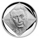 Stříbrná mince Adolf Loos - Proof - emise prosinec 2020 - orientační cena