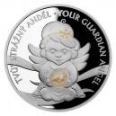 2020 - Stříbrná mince 2 NZD Crystal Coin - Anděl strážný Betlémské světlo