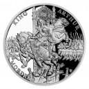 2021 - Stříbrná mince Artuš a Mordred - Legenda o králi Artušovi 1 NZD