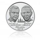 Stříbrná medaile Summit Obama-Medveděv, Praha 2010