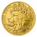 2021 - Zlatá mince 25 NZD Český lev - 1/2 Oz