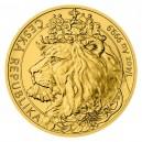 2021 - Zlatá mince 10 NZD Český lev - 1/4 Oz
