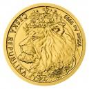 2021 - Zlatá mince 5 NZD Český lev - 1/25 Oz  - číslováno